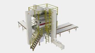 Sistema de alimentação com plataforma para selecionadora de grãos