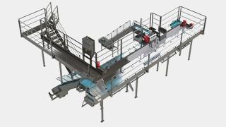 Sistema de movimentação com plataforma para goma